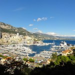 The city state of Monaco, from above