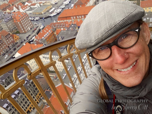Sherry Ott - in Copenhagen climbing the church tower