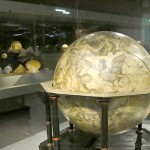 One of the world's oldest globes, on display at the Physics and Mathmatics Salon, Dresden.