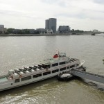 Passenger ferries ply the Rhein river: and a German Rail Pass allows you to use some of them