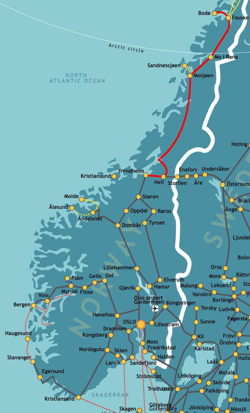 A Journey On The Nordland Railway ACP Rail Blog - Norway map railway