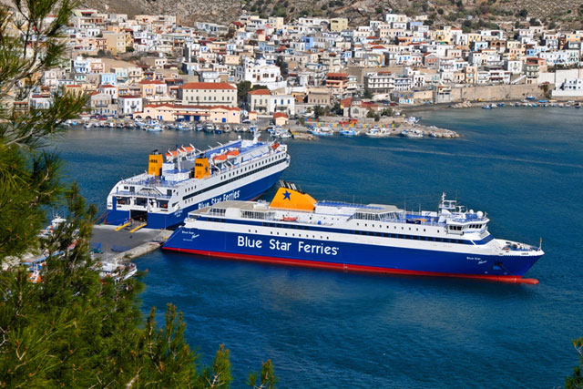 Blue-Star-Ferries--in-Kalymnos-port