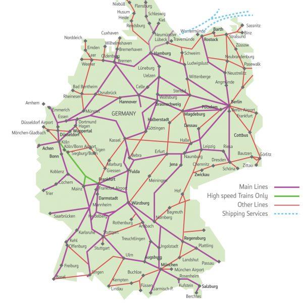 Deutsche Bahn Map