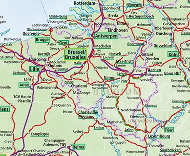 map of belgium and luxembourg Belgium Luxembourg Train Map Acp Rail map of belgium and luxembourg