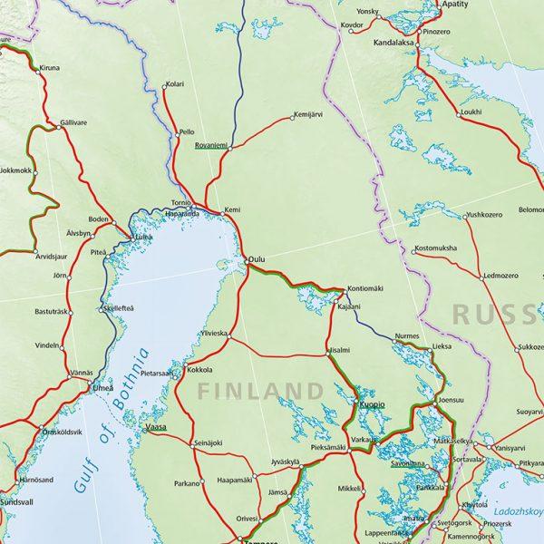Finland train map