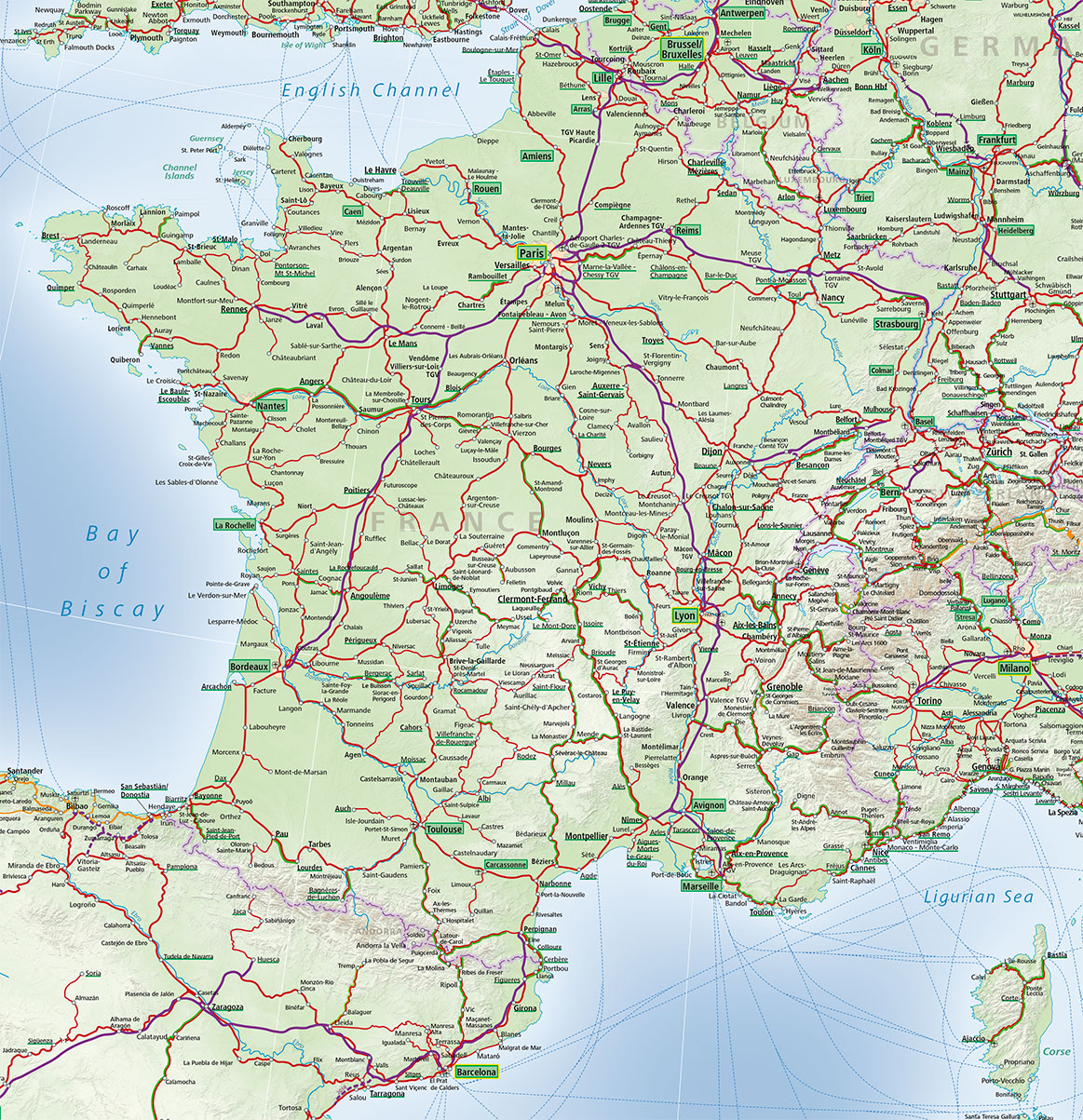 Map Of The France.France Train Map Acp Rail