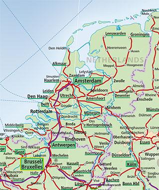 Netherlands Train Map - ACP Rail