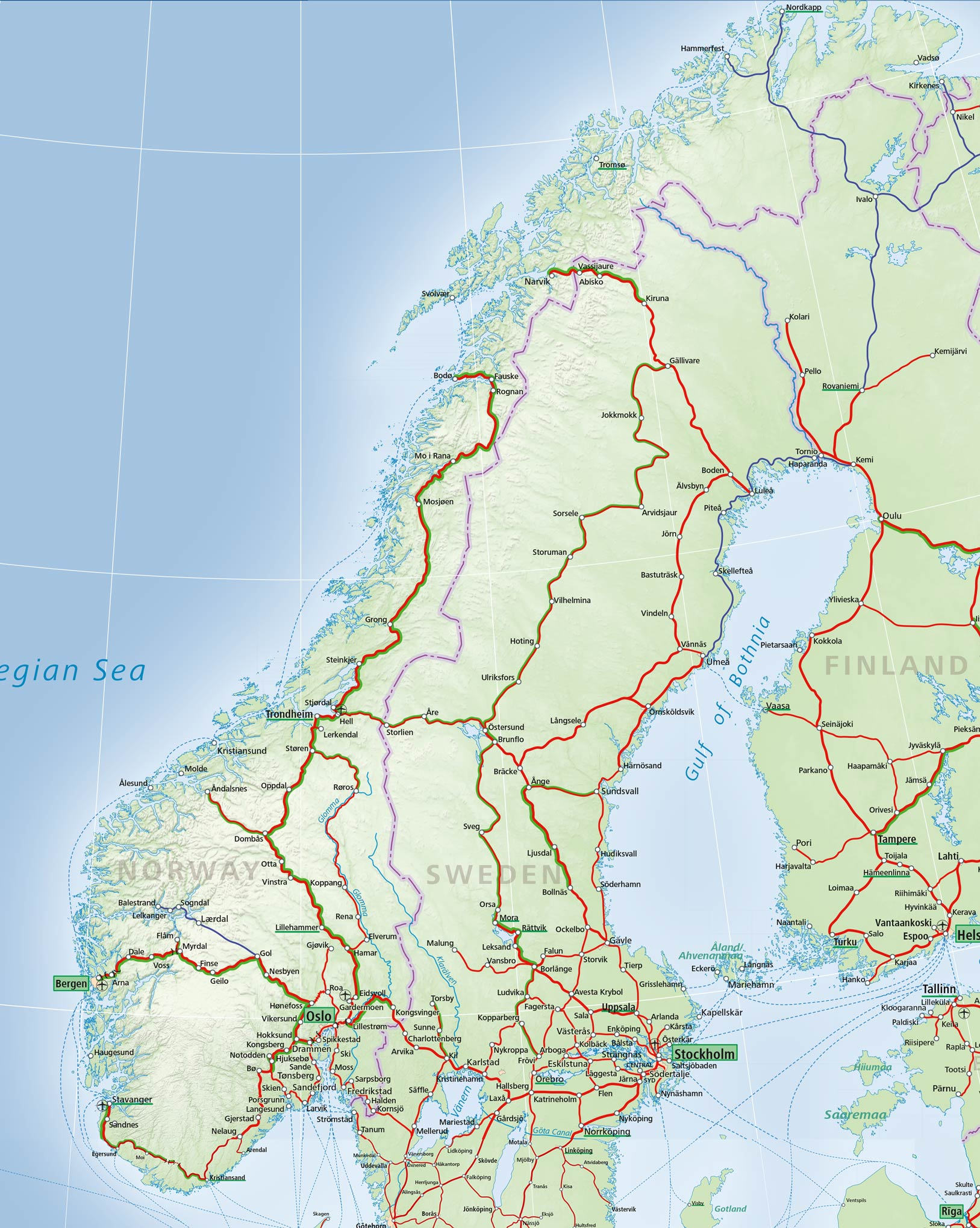 Norway train map