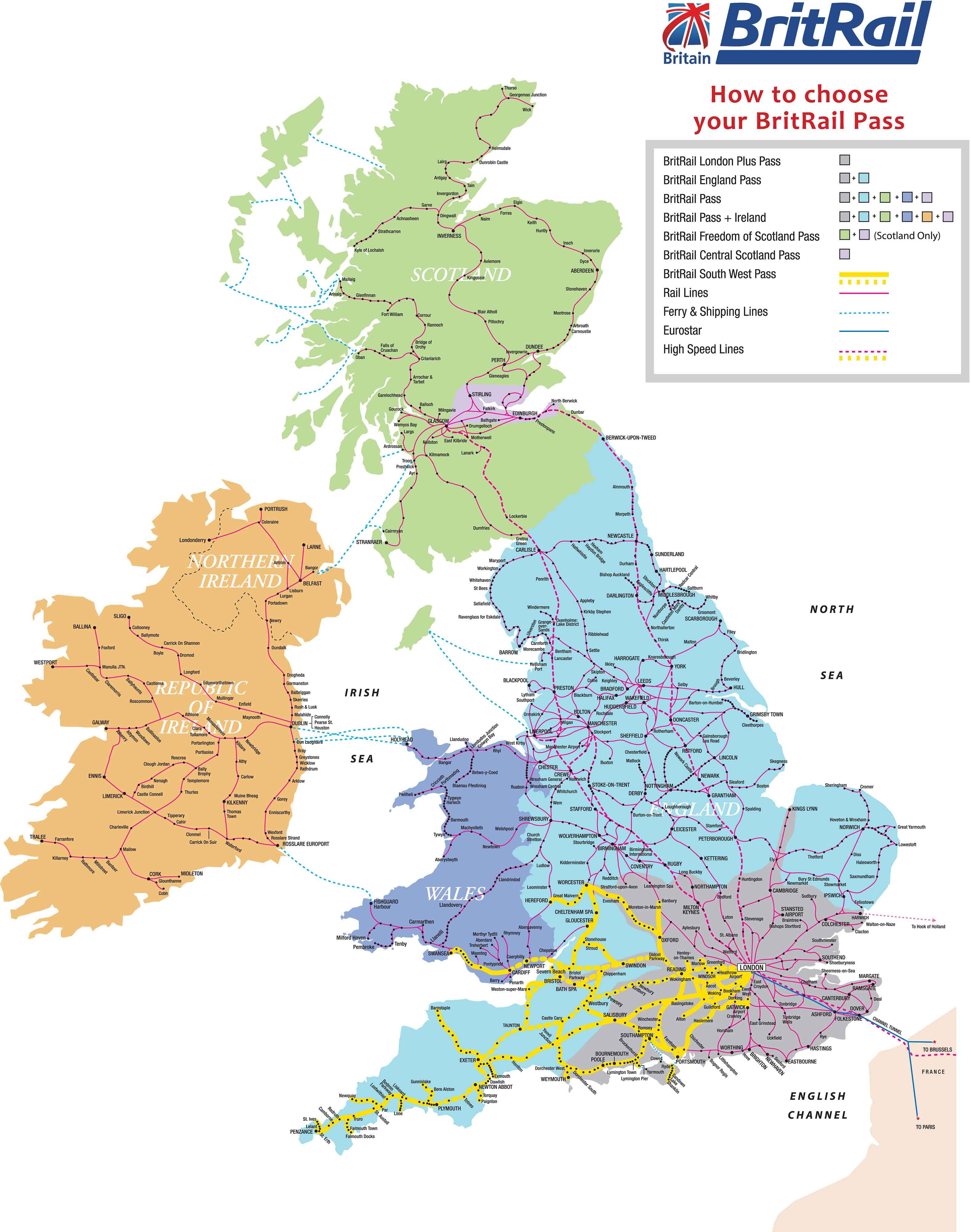 BritRail Map