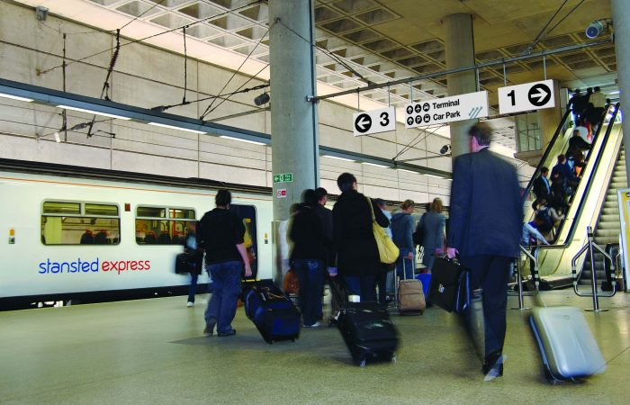 London to Stansted Airport by train