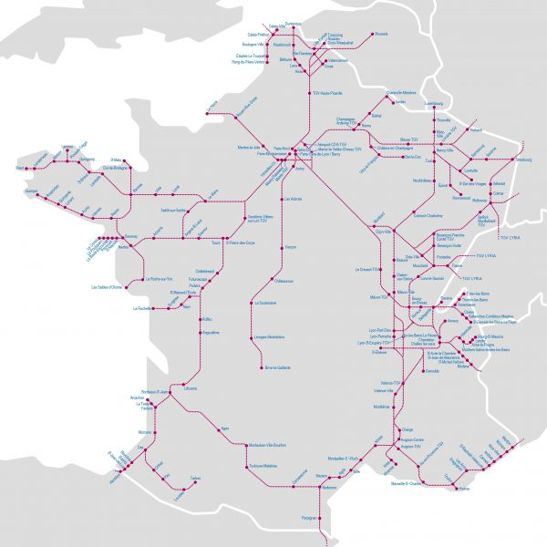 Map Of Trains In France.Maps Acp Rail